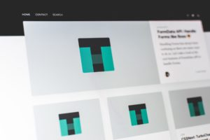 wordpress website on laptop screen
